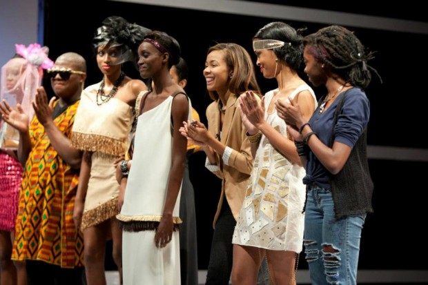 Crystal Powell-third from right reacts as she is announced winner of episode 3's challenge- credit Tiffany Lue-Yen