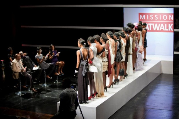 The models face the judges on Mission Catwalk season 2 episode 3- credit Tiffany Lue-Yen