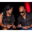 Dancehall Diva Lady Saw compares  notes with fellow judge Carlton Brown