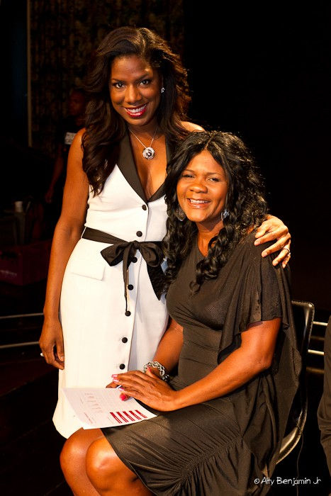 Mission Catwalk host and executive producer Keneea  Linton George on set with Lady Saw