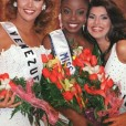 Wendy Fitzwilliam (center) delegate from Trinidad & Tobago being crowned Miss Universe 1998